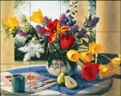 Spring Bouquet  1  - Tile Mural