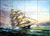 CLIPPER SHIP SURPRISE    - Tile Mural