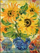 Sunflower Flame    - Tile Mural