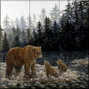 Grizzlies Lesson by the Lake    - Tile Mural