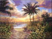 Sunset    - Tile Mural