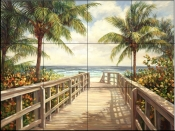 I'm Going To The Beach    - Tile Mural