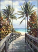 Beach Access    - Tile Mural