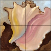Conch 1    - Tile Mural