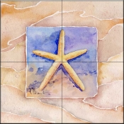 Summer Starfish    - Tile Mural