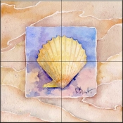 Summer Scallop    - Tile Mural