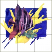 PB- Bat Fish    - Tile Mural