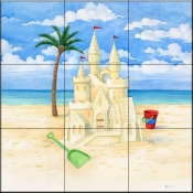 Sandcastle Beach 2    - Tile Mural