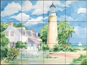 Key West Lighthouse    - Tile Mural