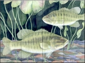 Smallmouth Bass    - Tile Mural