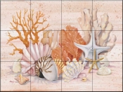 Coral Still Life Collage    - Tile Mural