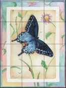 Tiger Swallowtail    - Tile Mural