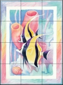 Moorish Idol Duo    - Tile Mural