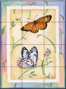 Checkerspot Pine Butterfly    - Tile Mural