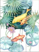 Tropical Pool 2    - Tile Mural