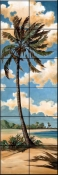 Palm Breeze 2    - Tile Mural