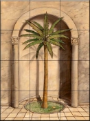 Romanesque Palm 1    - Tile Mural