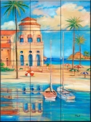 Mediterranean Beach Club 1    - Tile Mural