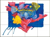 PB- Spotted Box Fish    - Tile Mural