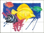 PB- Yellow Tang    - Tile Mural