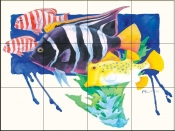 PB- King Angel Fish    - Tile Mural