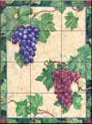 Grapes-Mix - Tile Mural