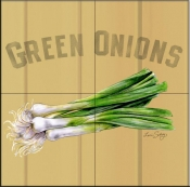 LS-Green Onions   - Tile Mural
