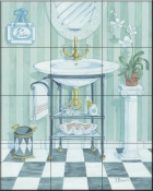 Wash Basin    - Tile Mural