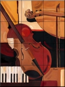 Abstract Violin    - Tile Mural