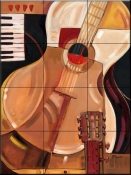 Abstract Guitar    - Tile Mural