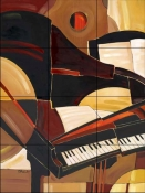 Abstract Piano    - Tile Mural