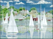 Captains Harbor    - Tile Mural