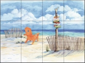 Beach Signs-Oceanview - Tile Mural