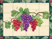 Grapes  3  - Tile Mural