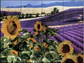 Sunflowers & Lavender    - Tile Mural