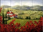 La Rouge Vista    - Tile Mural