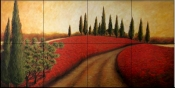 Tuscan Path I    - Tile Mural