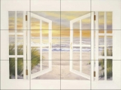 DR-Sunset Beach    - Tile Mural