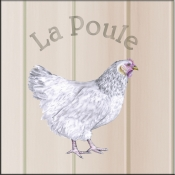 LS-La Poule (Chicken) - Accent Tile
