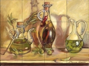 Olive Oil Jars    - Tile Mural