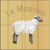 Le Mouton-Sheep - Tile Mural
