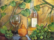White Wine    - Tile Mural
