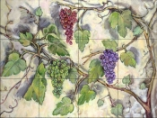 Grape Bounty    - Tile Mural