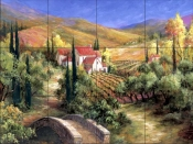 Tuscan Bridge    - Tile Mural