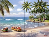 Tropical Bay    - Tile Mural