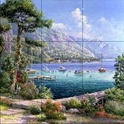 Annecy Lake    - Tile Mural