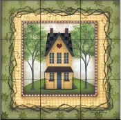 Folk House 1   - Tile Mural