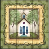 Folk House 2   - Tile Mural