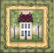 Folk House 4   - Tile Mural