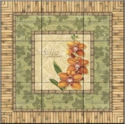 Bright Orchids II   - Tile Mural